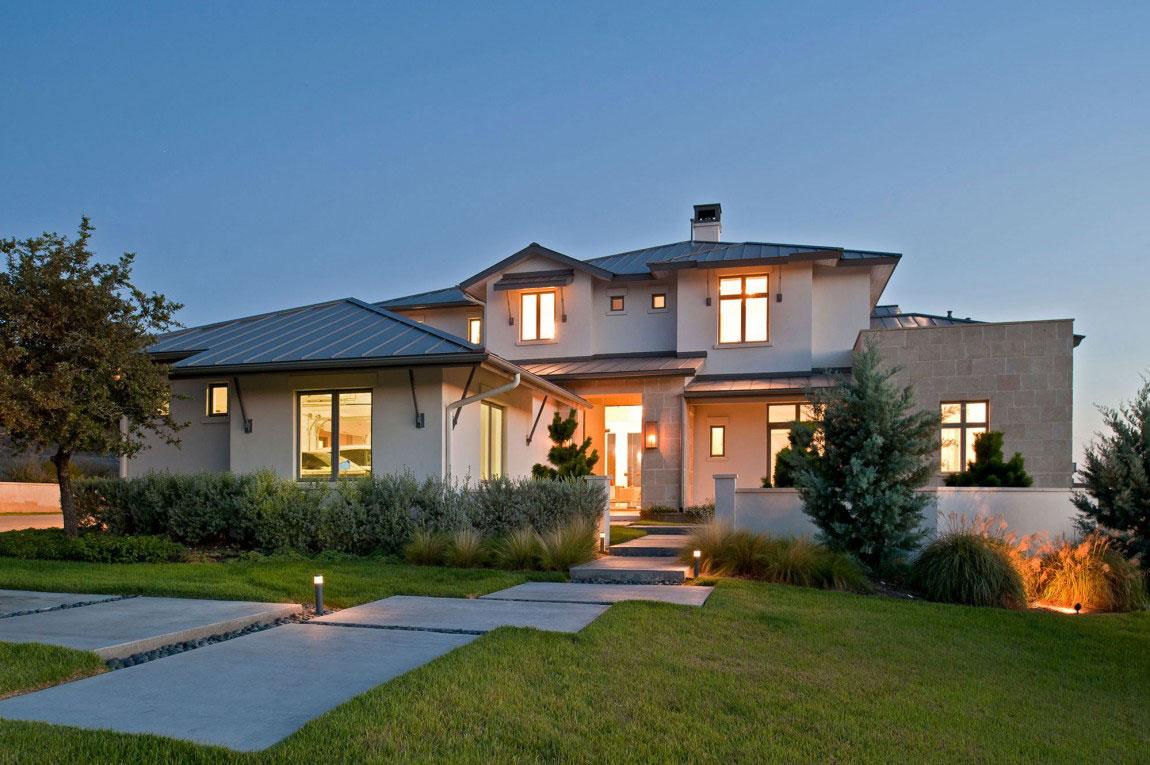 Samtida hus i modern lantlig stil 1 Modernt hus i modern lantlig stil