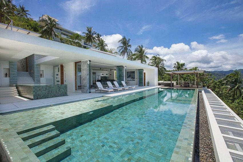 Modern-Tropical-VIlla-1 Modern tropisk VIlla med en enorm, glittrande pool