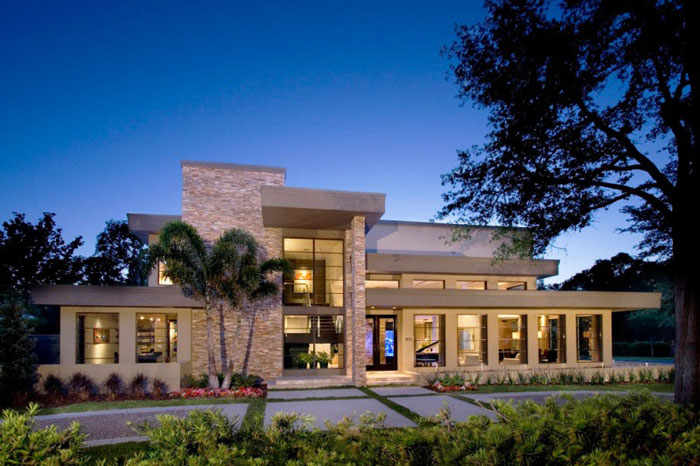 76872978551 Nytt modernt hem av Phil Kean Designs med vacker inredning