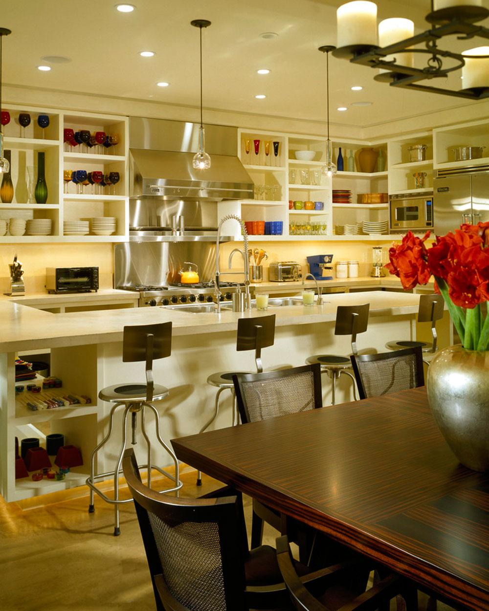 Öppna köksskåp är lättare att använda1 Öppna köksskåp är lättare att använda