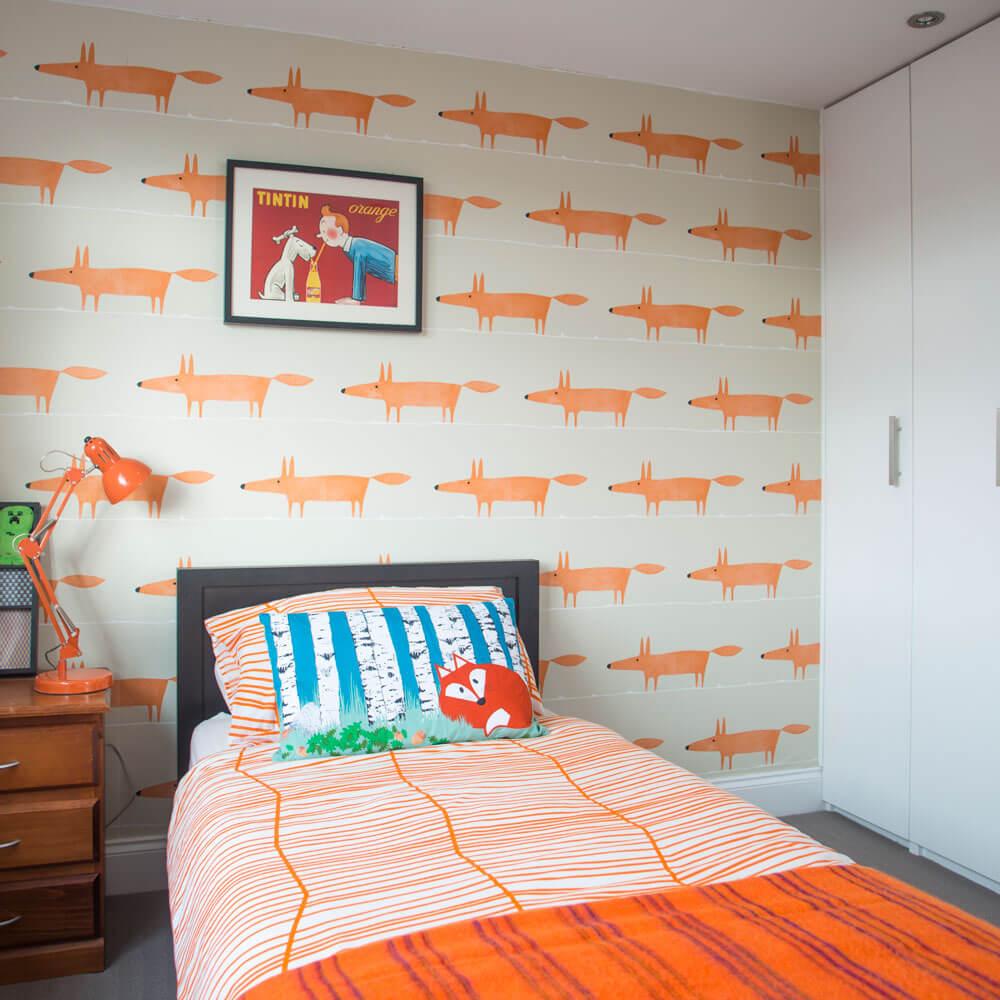 Animation sovrum väggdekoration
