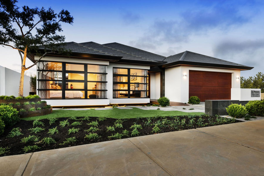1 Postmodernistiskt hus med japanska inslag av Webb & Brown-Neaves