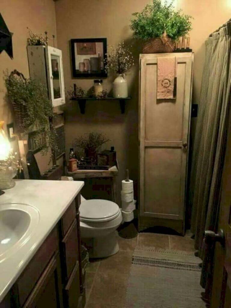Trevligt primitivt badrum