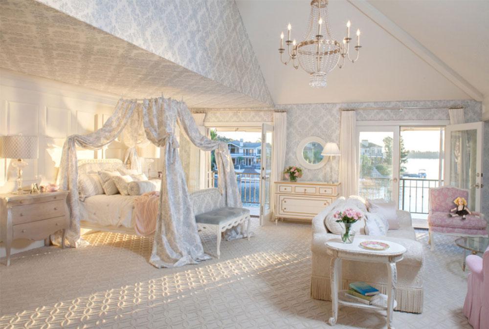 Bild 1-5 prinsessa sovrum idéer för små flickor