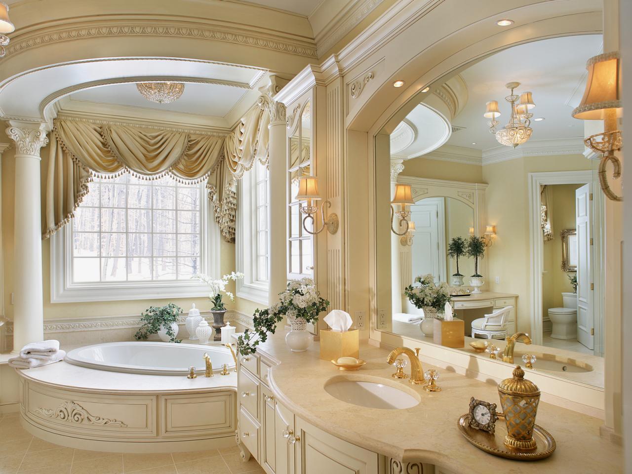 Romantiskt badrum i guld