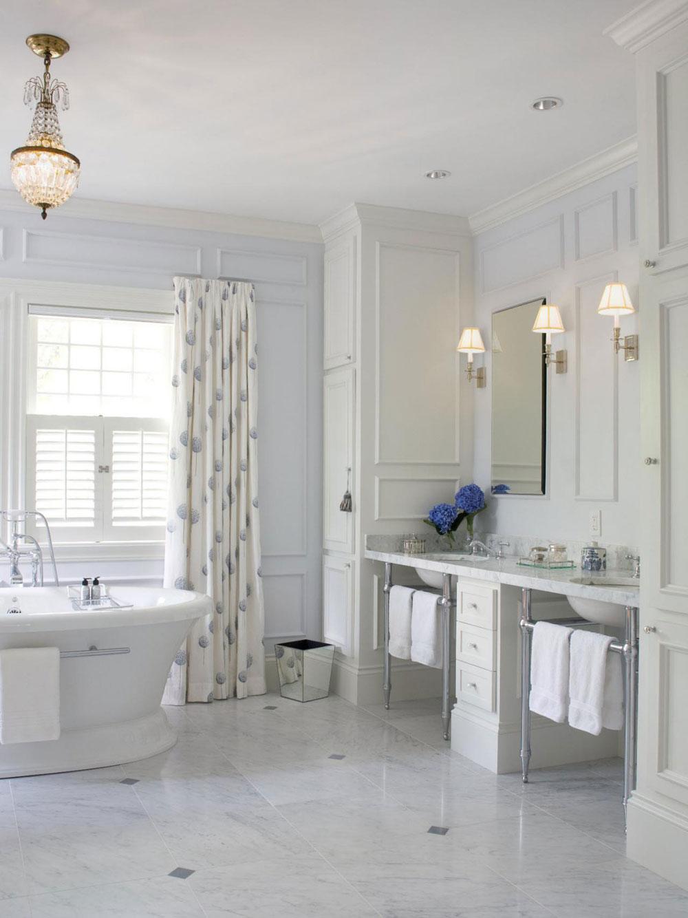 Skapa en vit badrumsinredning 1 Skapa en vit badrumsinredning