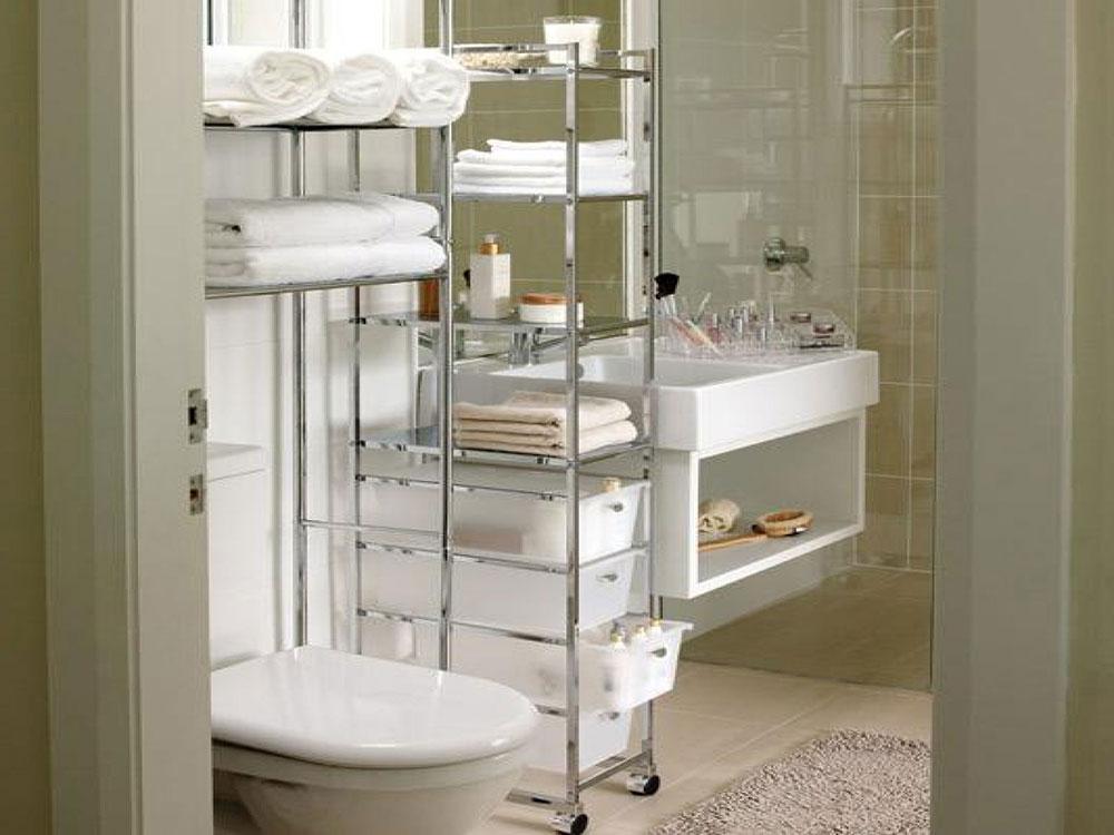 Förvaring av badrumstorn Små designhackar som förvandlar ditt lilla badrum