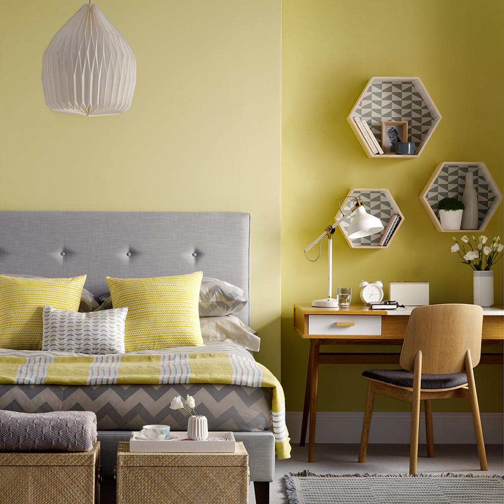 Charmigt modernt sovrum