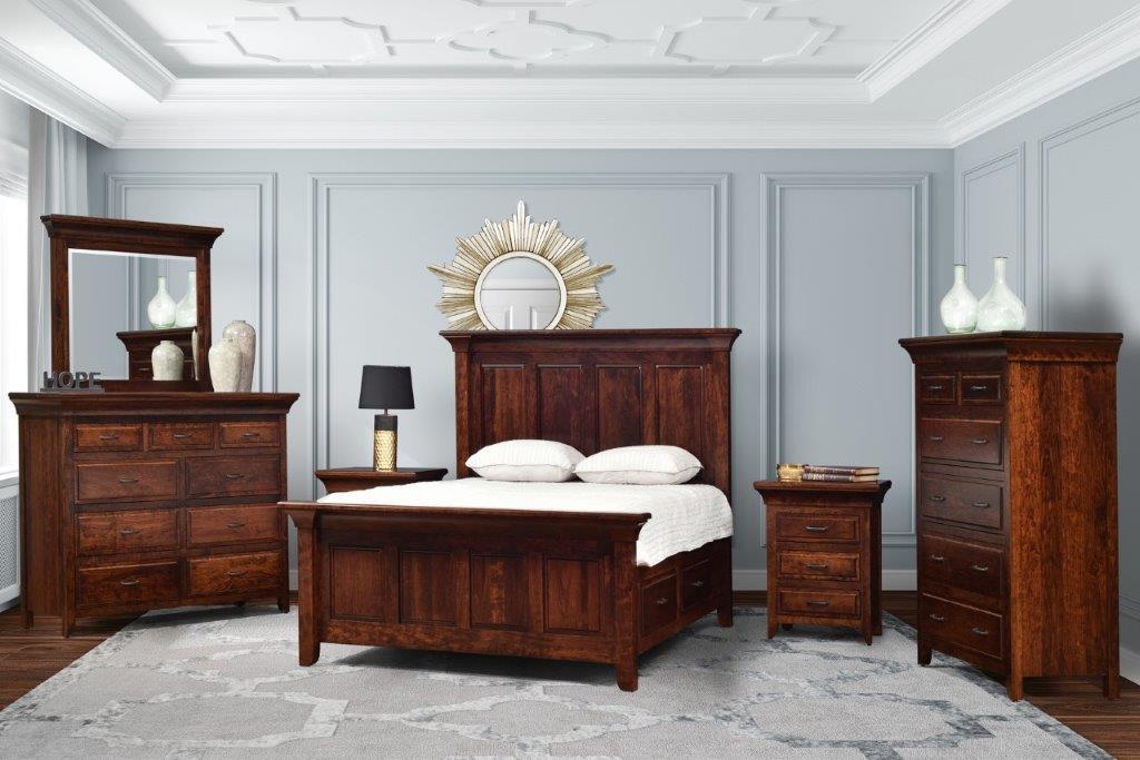 Sovrumsmöbler i körsbärsträ