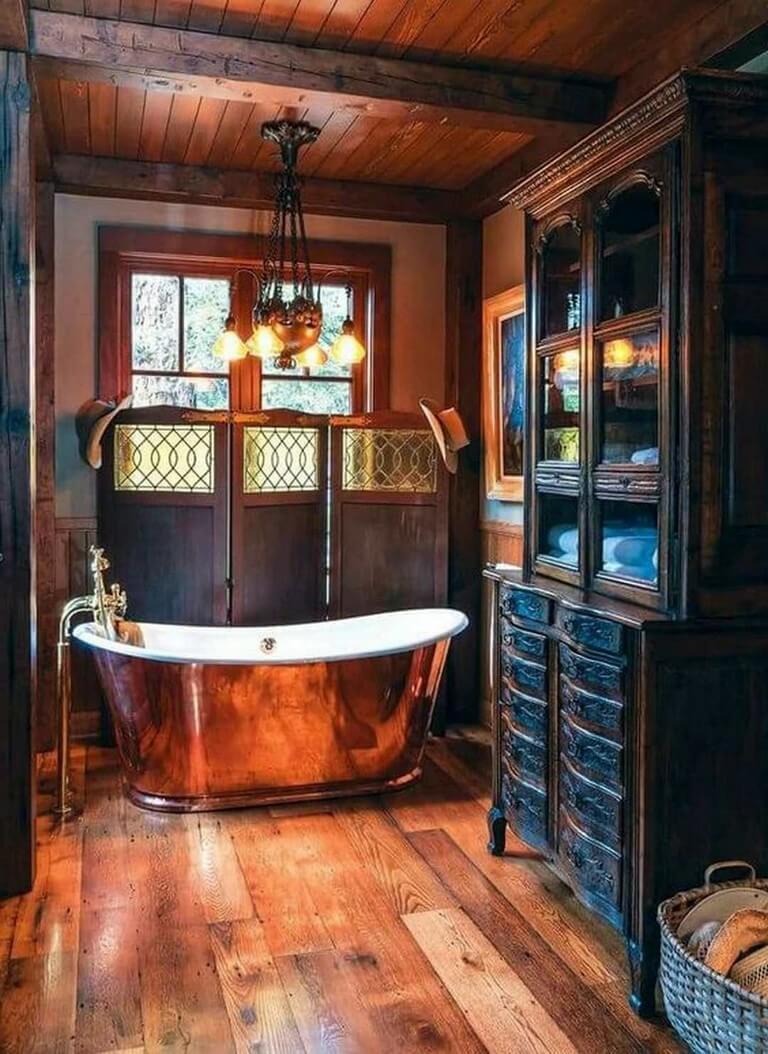 Gammalt viktorianskt badrum