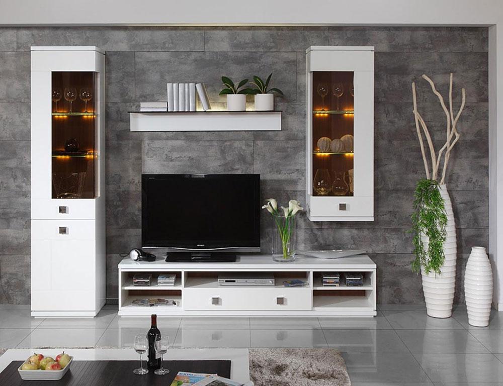 Designer vardagsrumsmöbler Tjäna lite extra pengar och skapa ett elegant hyresutrymme