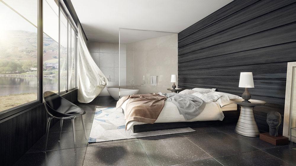 rymliga, moderna sovrum Topp 4 Feng Shui-tips för bättre sömn