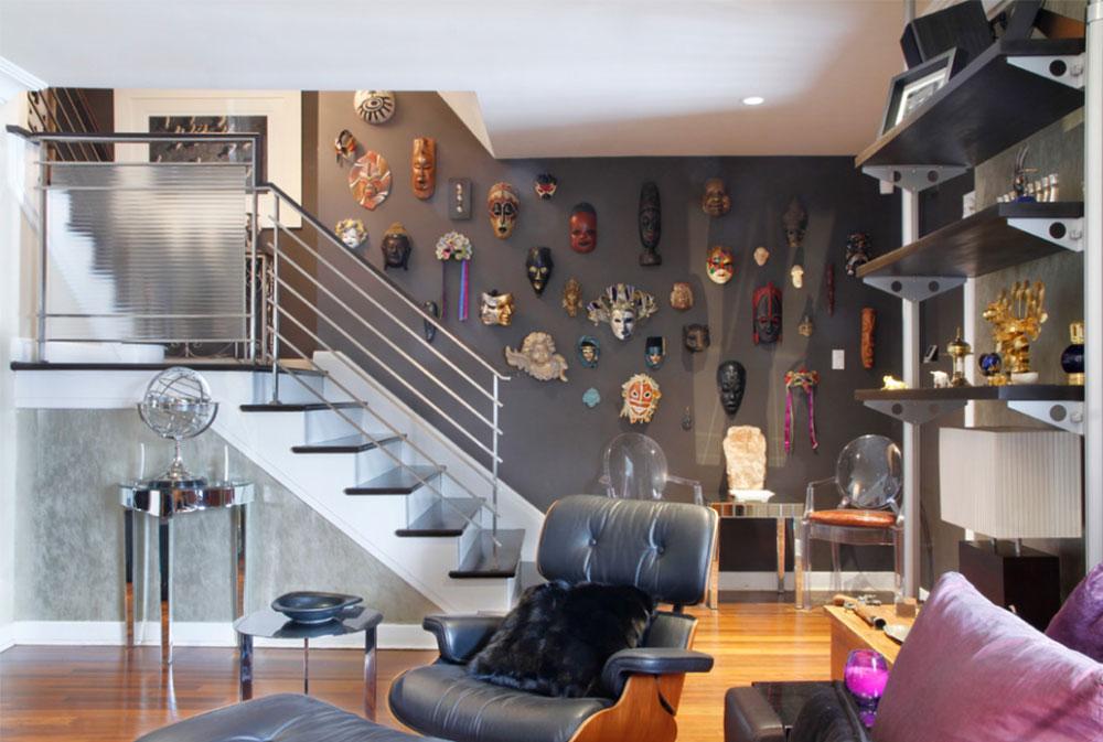 Bild 2-8 Idéer för dekoration av trappväggar