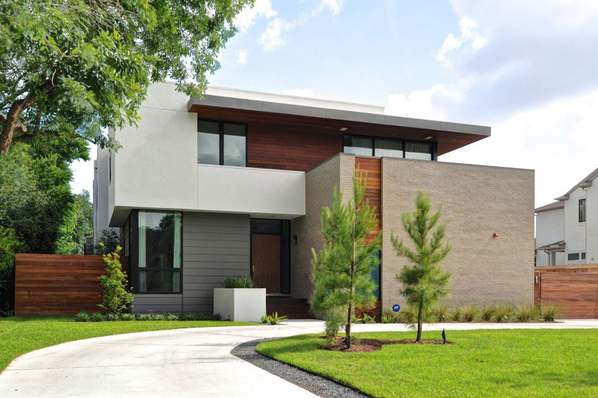 Vackert hollyhus, designat av ett arkitektföretag StudioMET-1 Vackert hollyhus, designat av ett arkitektfirma StudioMET