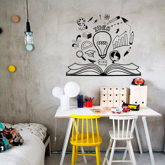 Väggdekor Idé Idéer Brainstorming Läsning Bokmotivation |  Et