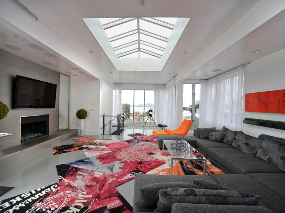 Vardagsrum med takfönster som ger naturligt ljus 5 vardagsrum med takfönster som ger naturligt ljus