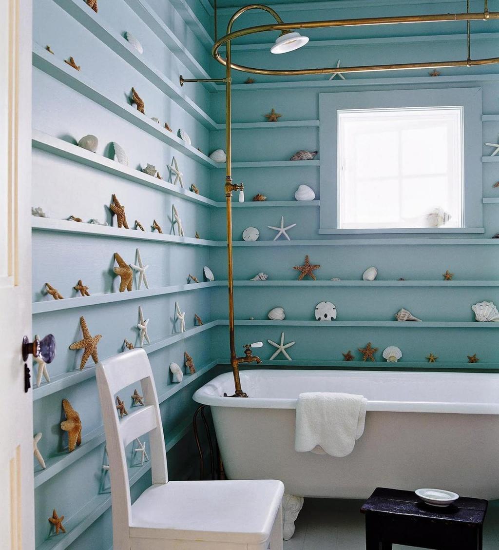 Nautiska tonåring badrum