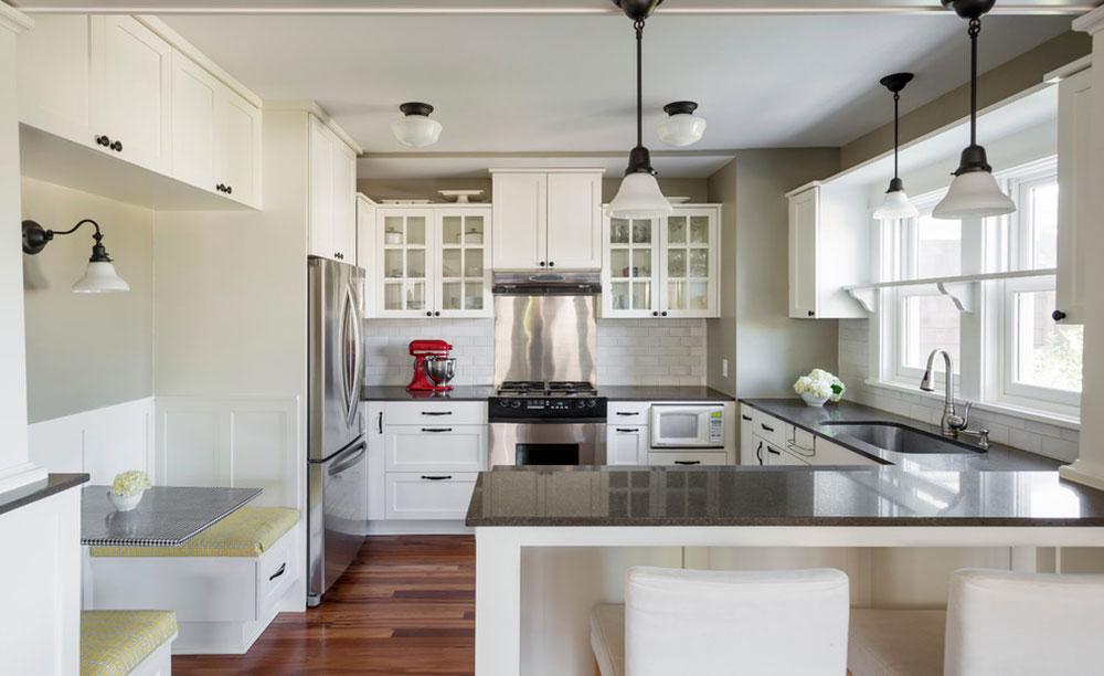 White-Tile-Backsplashes-don't-to-be-be-boring13 White Tile Backsplash Design Idéer