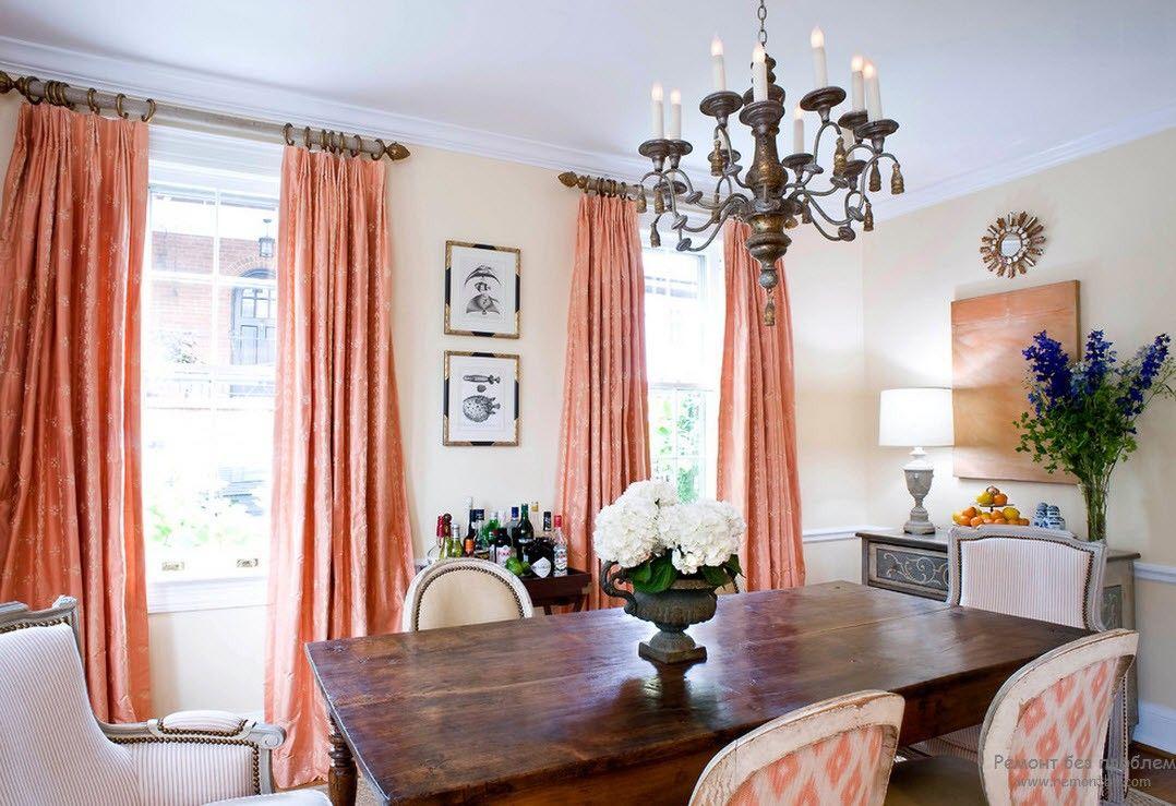 Använd persikafärgen för att dekorera fantastiska interiörer