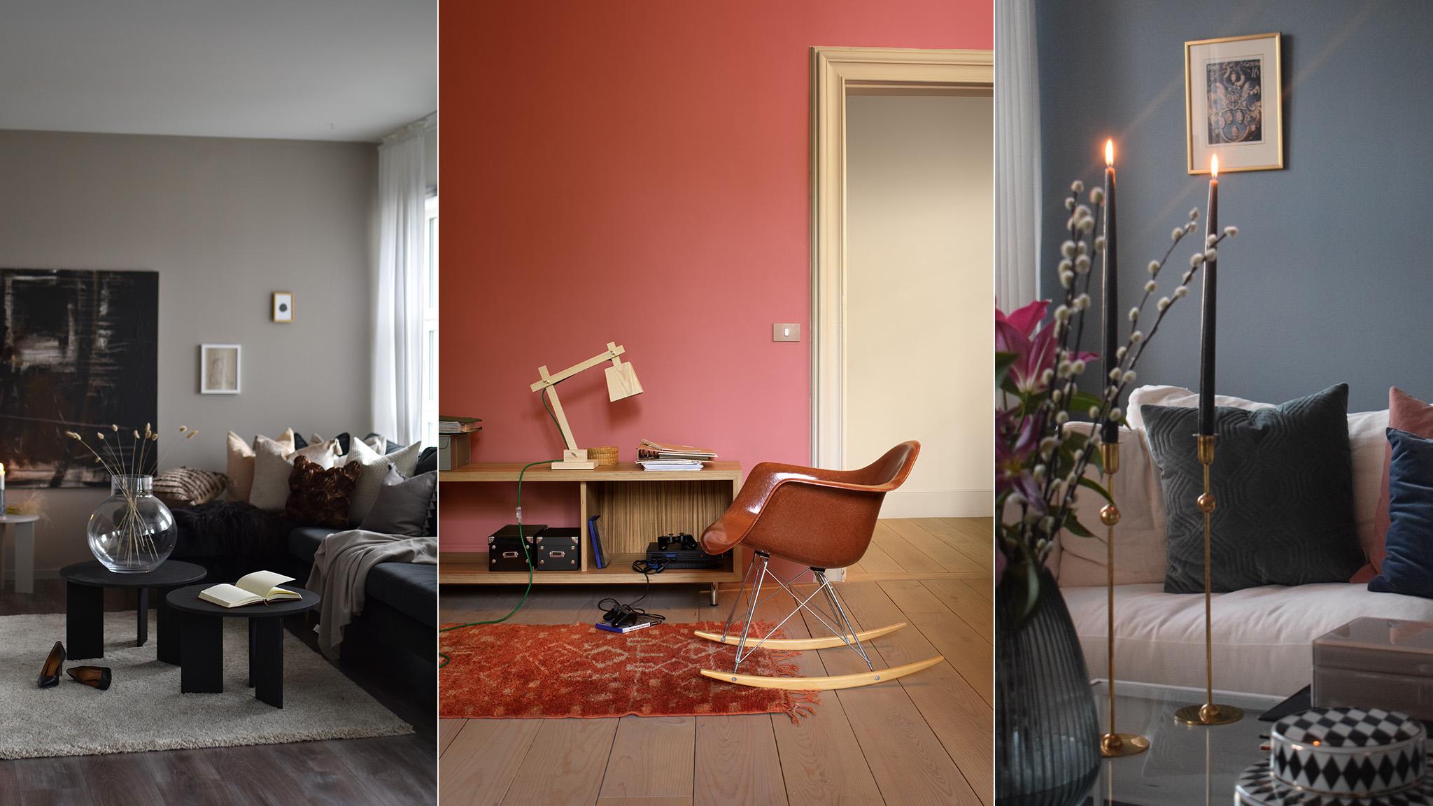 Bekräfta ett neutralt interiör med färg