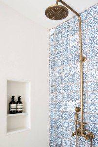 Blå badrumsidéer.  Design, dekor och tillbehör