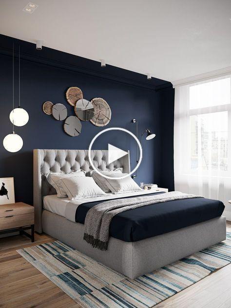 Blå sovrumsidéer