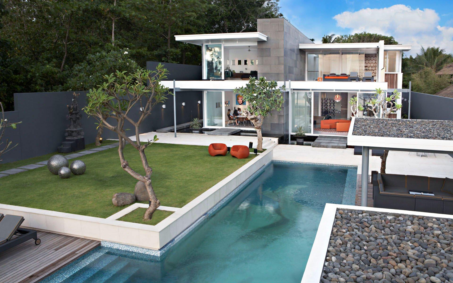 Den vackert designade villa som är Luna2 Private Hotel