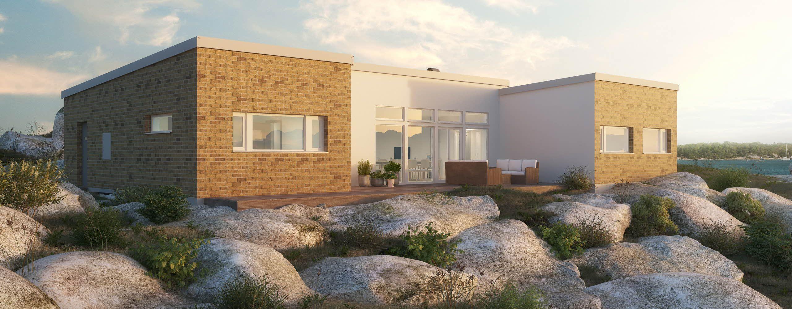 Ett hus som sticker ut från arkitekter och designers
