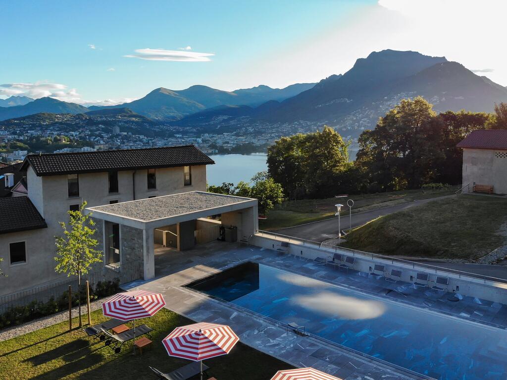 Ett unikt exempel på modern arkitektur nära Luganosjön