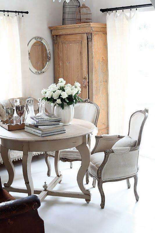 Fransk stil inredningsidéer, inredning och möbler