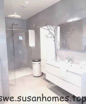 Grå badrumsdesignidéer