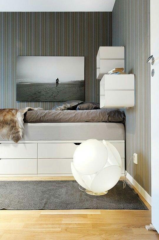 Häftiga sovrumsmöbler för tonåringar