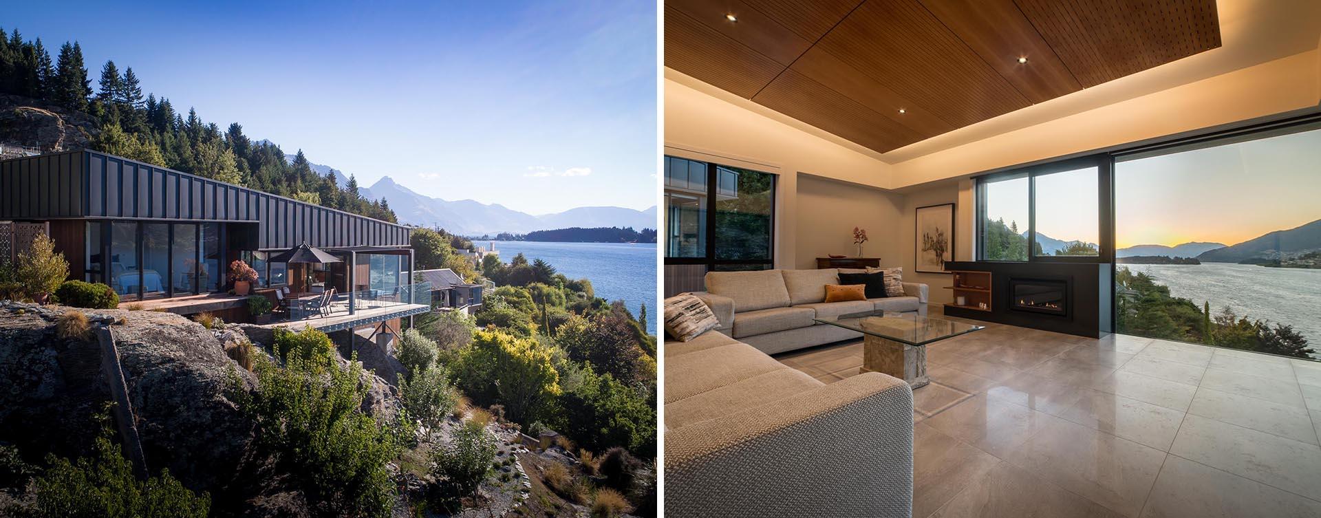 Hemma i Nya Zeeland med modern design och fantastisk utsikt