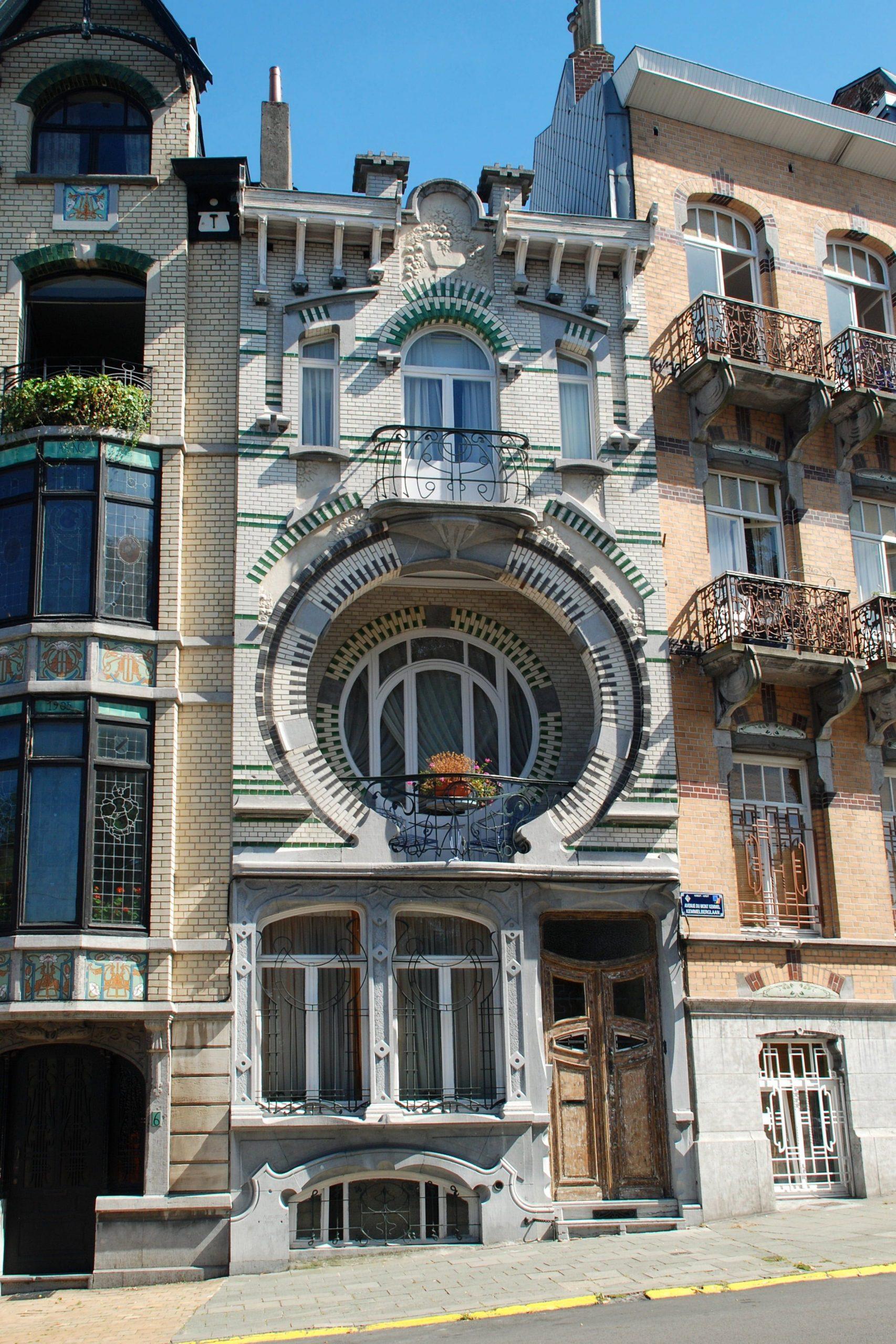 Hus med art deco-arkitektur i Belgien