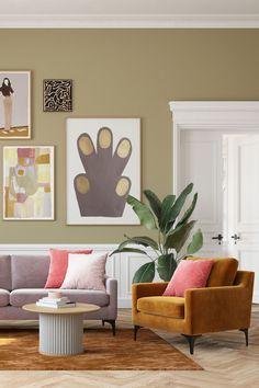 Idéer för att dekorera ditt hem med djärva färger