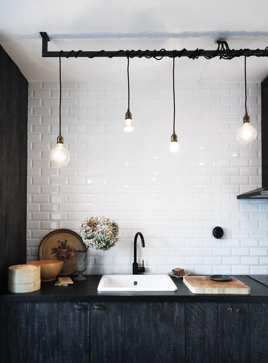 Idéer för industriell köksbelysning