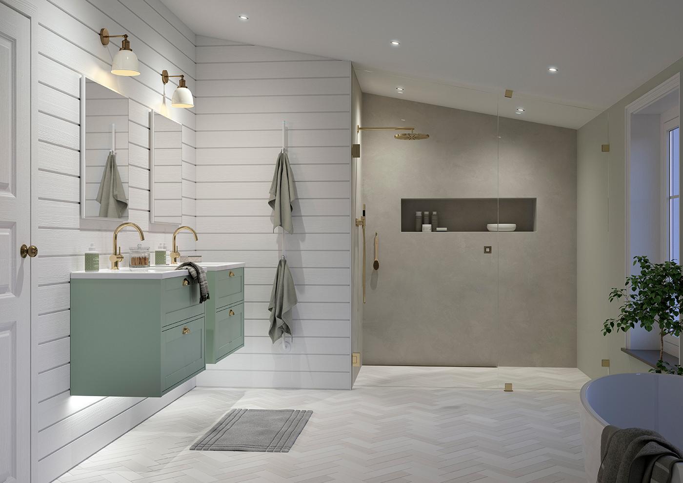 Idéer till badrumsväggar
