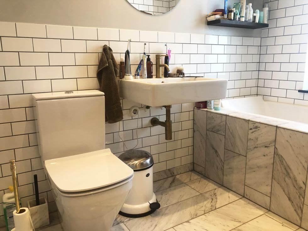 Inredningsbilder för badrum som är tillgängliga för att inspirera dig