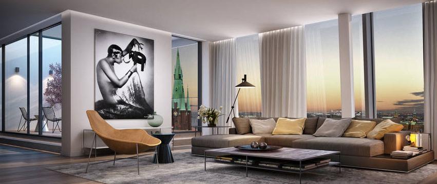 Lägenhet med utseendet på en lyxig hotellrumssvit