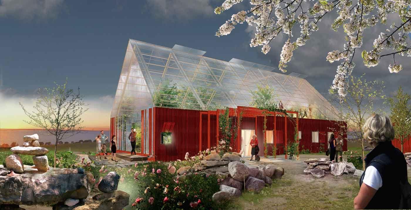 Miljövänligt hus med modern design