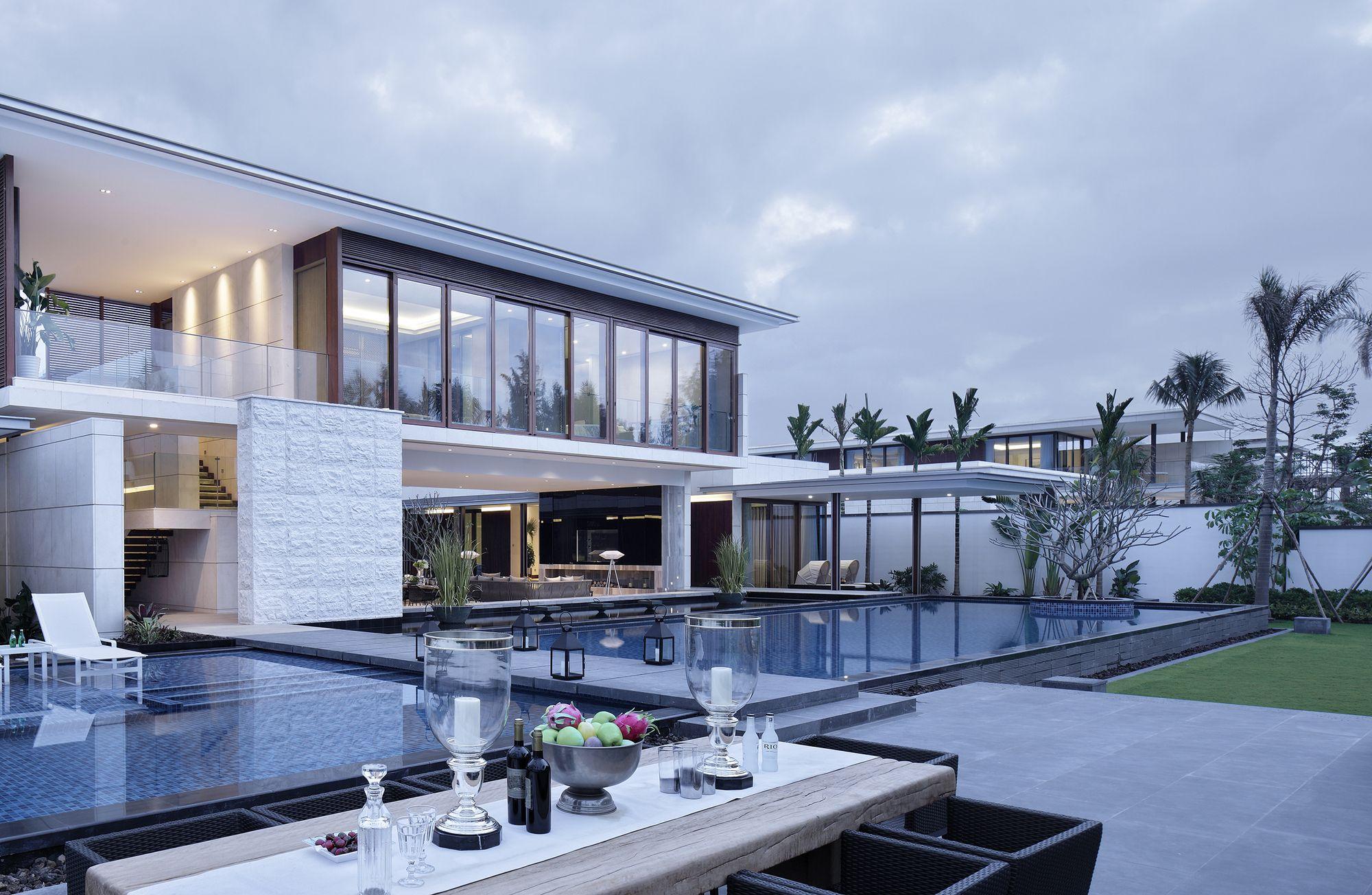 Modern kinesisk villa med lyxiga funktioner designad av Gad