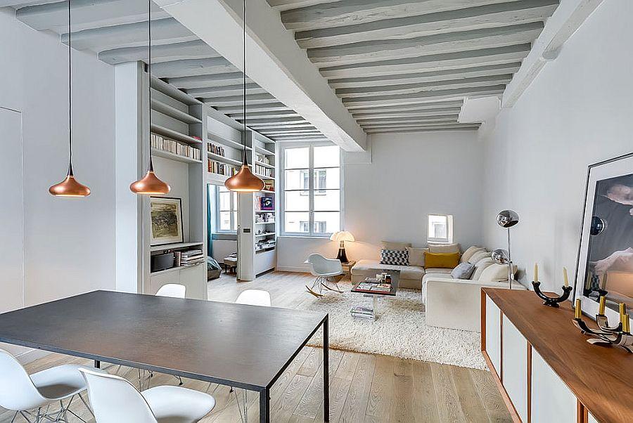 Modern lägenhet i Paris Designad av den franska inredningsarkitekten Tatiana Nicol