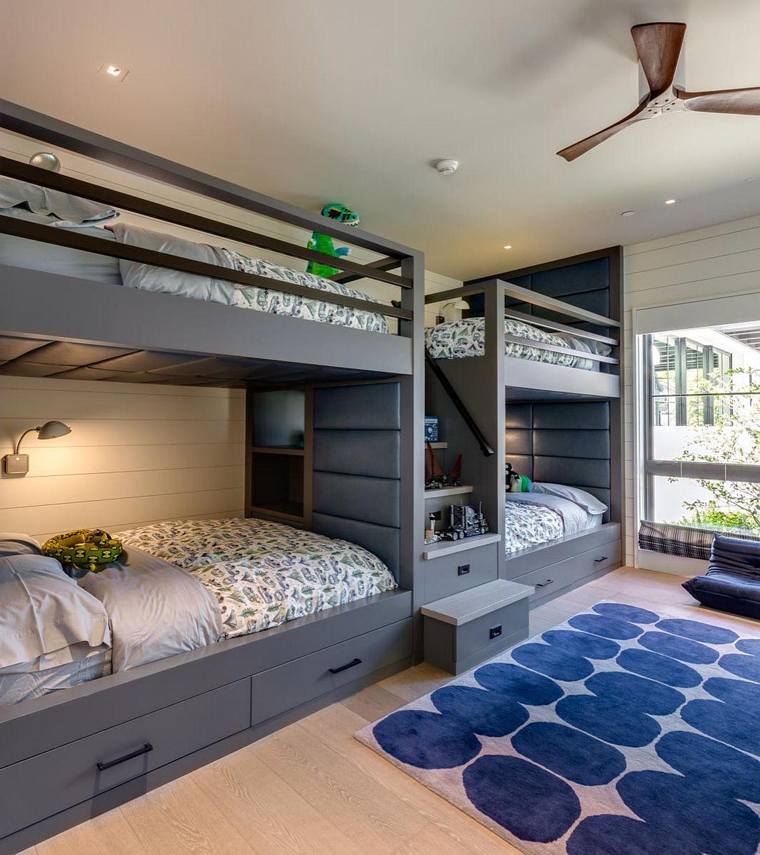Moderna våningssängdesigner och idéer för ditt barns rum