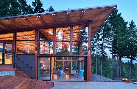 Modernt berghus designat av Johnston Architects