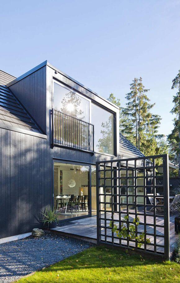 Modernt hus med ett speciellt utseende