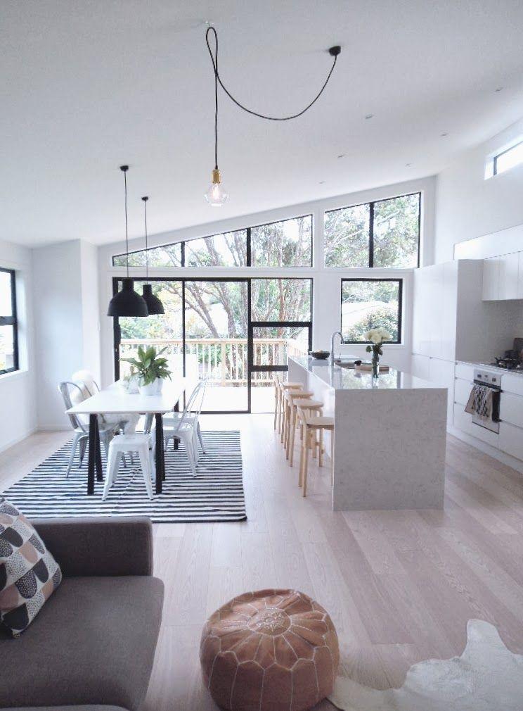 Öppna designidéer för kök och vardagsrum