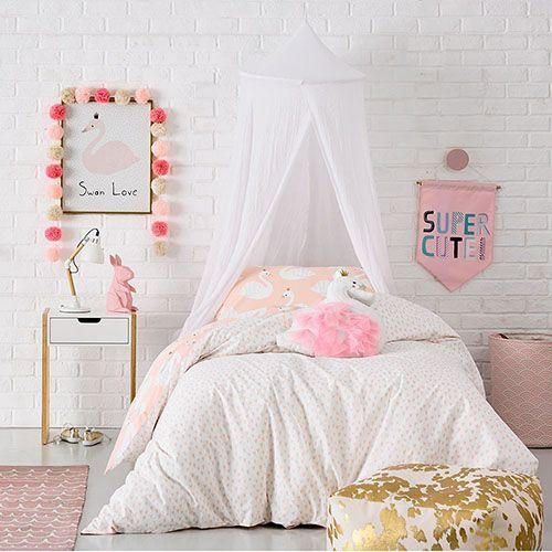 Princess sovrumsidéer för små flickor
