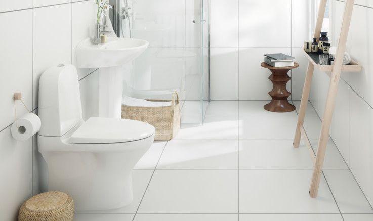 Skapa en vit badrumsinredning
