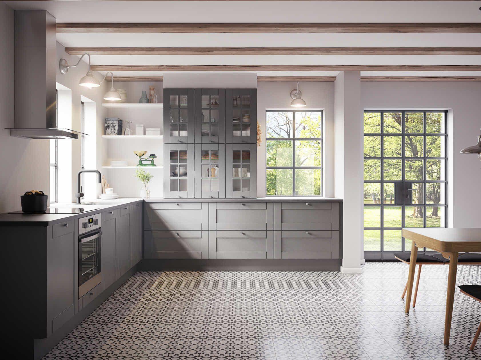 Snygg grå köksinspiration för utsökta hem