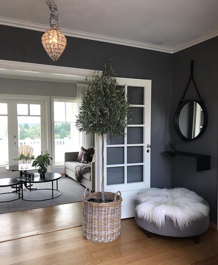 Vacker ny inredningsdesign för vardagsrum